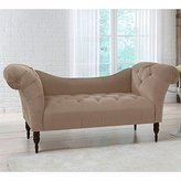 Skyline Furniture Tufted Chaise Lounge in Cocoa