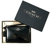 Coach Womens Boxed Small Black Wristlet in Leather F55739 IMBLK