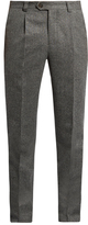 Brunello Cucinelli Slim-leg wool and silk-blend trousers
