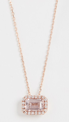 Suzanne Kalan 14k Rose Gold Emerald Cut Necklace