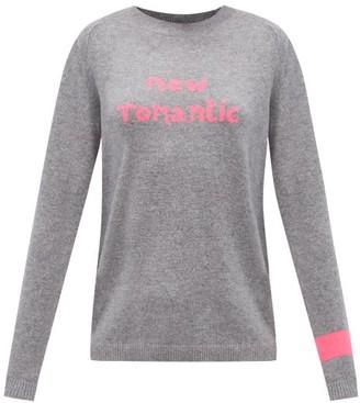 Bella Freud New Romantic-intarsia Cashmere Sweater - Grey