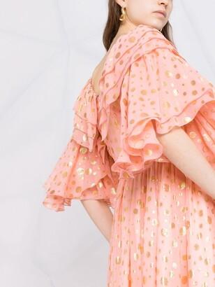 La DoubleJ Birthday metallic-polka dot dress