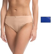 Ellen Tracy Microfiber High-Cut Brief Panties - 2-Pack (For Women)