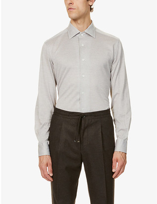 Corneliani Pindot cotton-jersey shirt