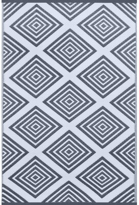 Wildon Home Lightweight Legend Charcoal Gray/White Indoor/Outdoor Area Rug Rug Size: Rectangle 3' x 5'