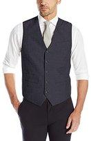 Perry Ellis Men's Linen Cotton End On End Suit Vest