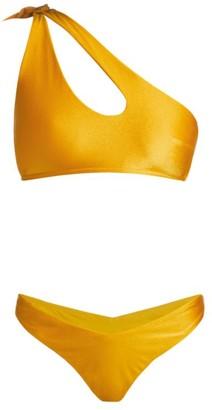 Zimmermann Amelie Two-Piece One-Shoulder Bikini Set
