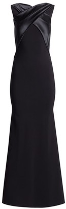 Chiara Boni Mona Wrap Neckline Jersey Gown