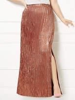New York & Co. Eva Mendes Collection - Phaedra Pleated Maxi Skirt - Plus