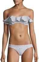Lisa Marie Fernandez Two-Piece Natalie Flounced Polka Dot Bikini