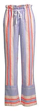 Lemlem Women's Fiesta Striped Drawstring Pants