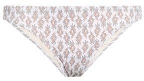 Eberjey Ruched Printed Low-rise Bikini Briefs