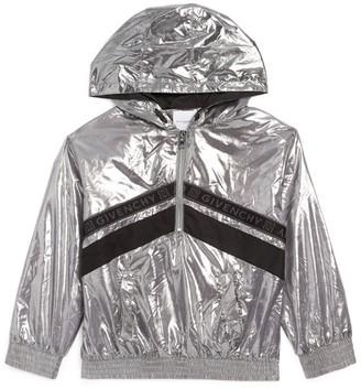 Givenchy Kids Logo Trim Metallic Windbreaker