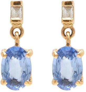 Xiao Wang Galaxy' diamond sapphire 18K gold drop earrings