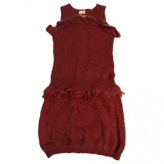 Rodier Burgundy Wool Dress for Women