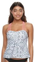 Mix and Match Tie-Dye Apron-Back Tankini Top
