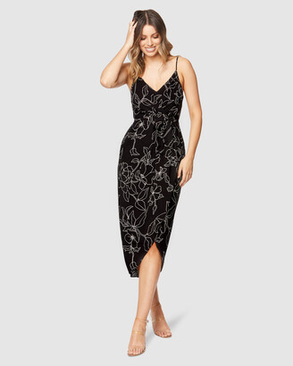 Pilgrim Women's Black Midi Dresses - Billy Midi Dress - Size One Size, 8 at The Iconic