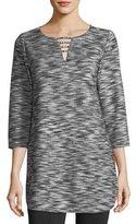 Joan Vass Tweed Tunic Top, Plus Size