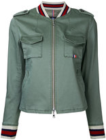 GUILD PRIME tri-stripe bomber jacket - women - Cotton/Polyester/Polyurethane - 34