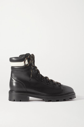 Jimmy Choo Eshe Leather Ankle Boots - Black