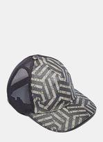 Men's Geometric Print 6 Panel Baseball Cap In Beige And Black €210