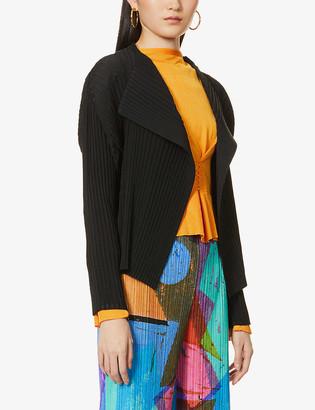 Issey Miyake Pleated woven cardigan