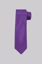 Moss Esq. Fuschia & Blue Texture Silk Tie