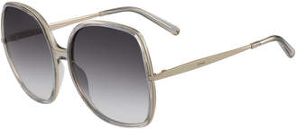 Chloé Oversized Square Metal Sunglasses
