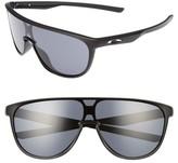 Oakley Women's Trillbe 140Mm Shield Sunglasses - Matte Black/ Warm Grey
