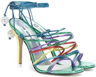 ATTICO Fiona metallic leather sandals