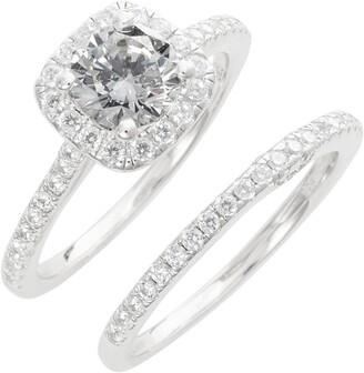 Lafonn Simulated Diamond Engagement Ring & Band
