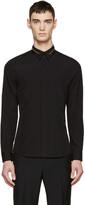 Givenchy Black Poplin Zip Collar Shirt