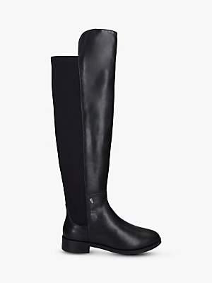 Kurt Geiger London Vera Leather Over The Knee Boots, Black