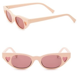 Le Specs Luxe Le Specs x Adam Selman The Heartbreaker 56MM Cat Eye Sunglasses
