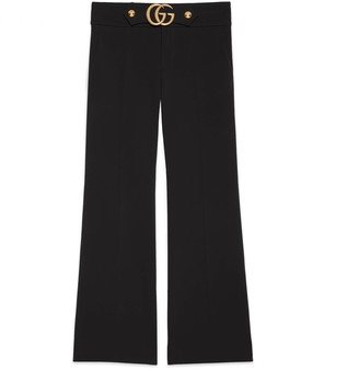 Gucci Stretch viscose trousers with Double G