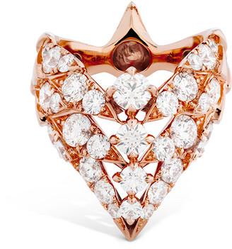 Hearts On Fire 18K Rose Gold 3.42 Ct. Tw. Diamond White Kites Ring
