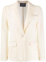 Lorena Antoniazzi open-knit single-breasted blazer