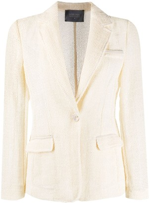 Lorena Antoniazzi Open-Knit Single-Breasted Blazer