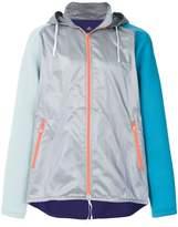 adidas colour block hooded windbreaker jacket