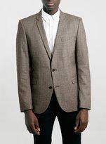 Topman Selected Homme Greaser Brown Tartan Blazer