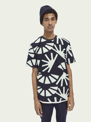 Scotch & Soda 100% cotton signature jacquard t-shirt | Men