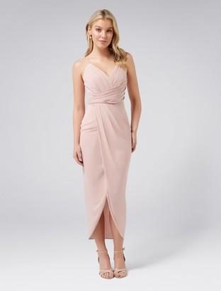 Forever New Charlotte Petite Drape Maxi Dress - Nude - 8