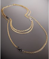 Novick gold and CZ rondelle 'Kate' multi chain necklace