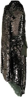 Monse Halterneck Sequin-Embellished Dress