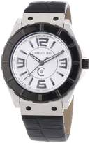 Cerruti Men's Quartz Watch CRA020A212B with Leather Strap