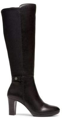 Anne Klein Silence Knee-High Leather Boots