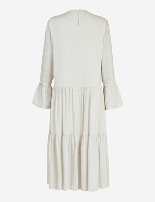 AllSaints Lori silk-blend midi dress