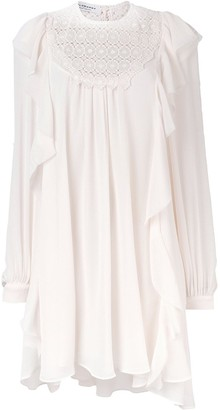 Philosophy di Lorenzo Serafini Ruffle Trim Shift Dress