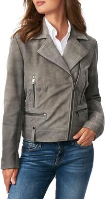 Bernardo Suede Moto Jacket