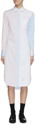 Thom Browne 'Funmix' contrast panel shirt dress